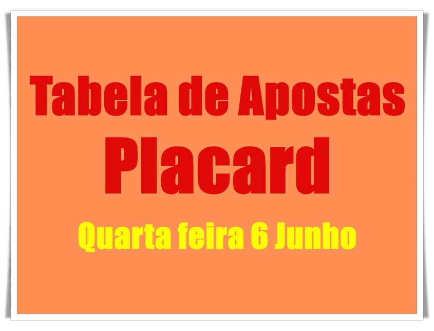 Analises apostas placard