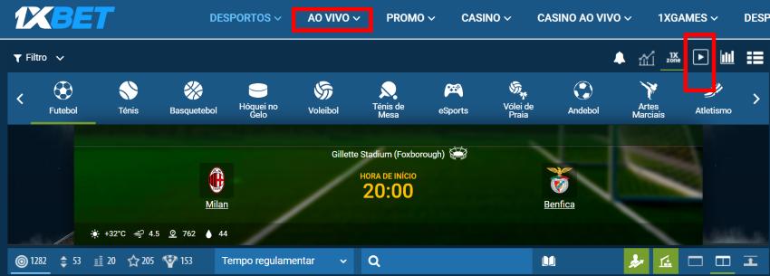 Milan Benfica online grátis - Vê o jogo em qualquer dispositivo móvel