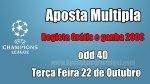 Aposta Múltipla - Liga dos Campeões - Regista Grátis e ganha 200€