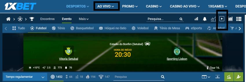 Vitória Setúbal Sporting Online grátis. Assiste nos dispositivos móveis
