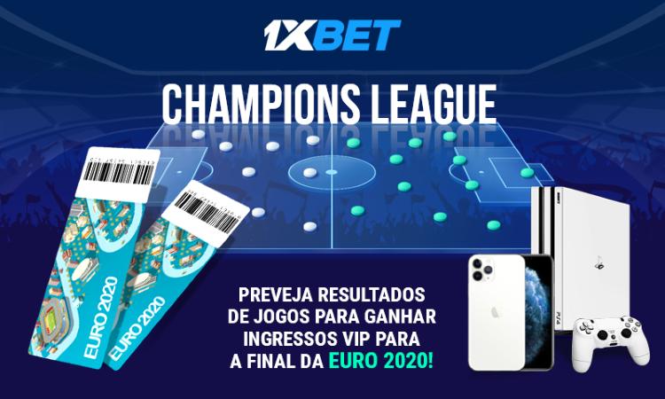 Prémios incríveis na 1xBet com a Liga dos Campeões!