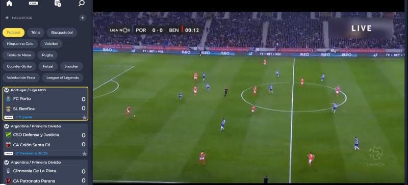 Ver Porto Benfica online grátis - Vê o jogo em qualquer dispositivo móvel