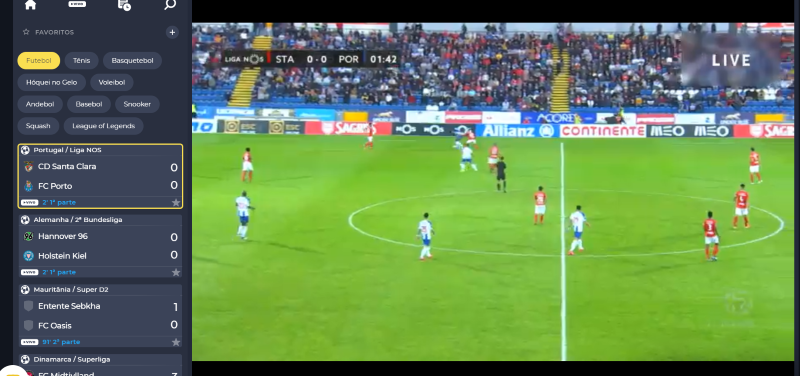 Ver Santa Clara Porto online - Vê o jogo em qualquer dispositivo móvel