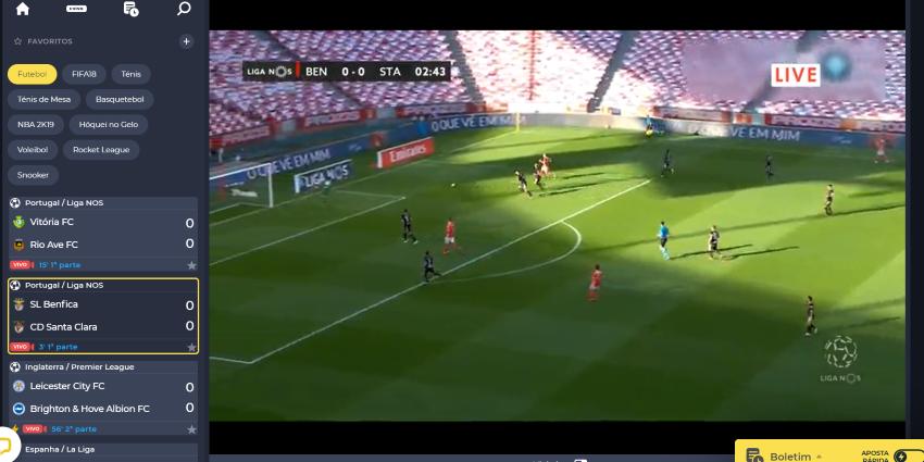 Ver Benfica Santa Clara Online grátis. Assiste nos dispositivos móveis