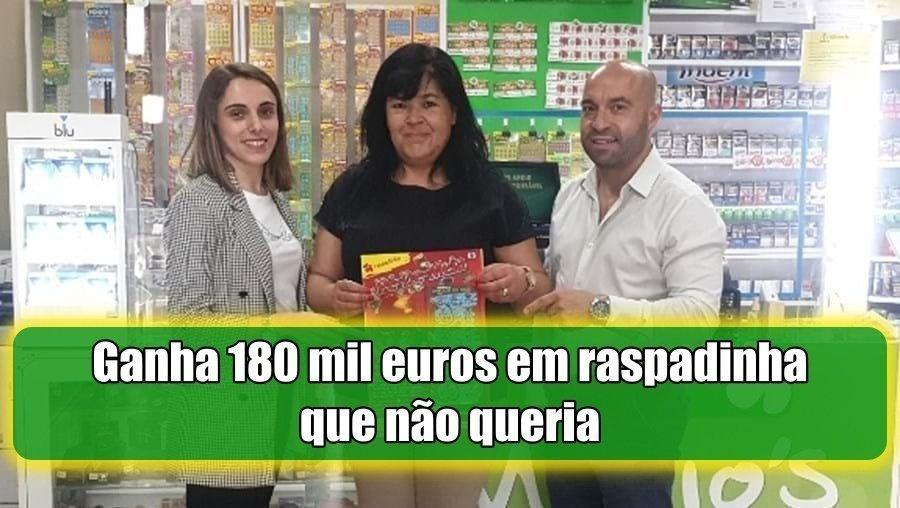 Mulher de Ermesinde comprou a raspadinha que não queria e ganha 180 mil euros