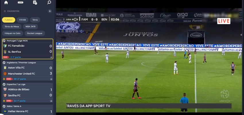 Ver Famalicão Benfica Online grátis. Assiste nos dispositivos móveis