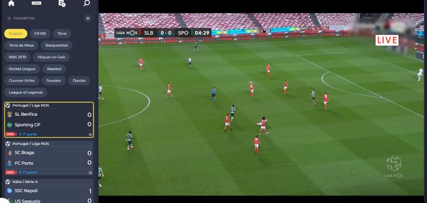 Ver Benfica Sporting online grátis. Assiste em qualquer dispositivo móvel