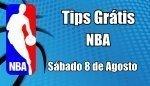 Prognósticos para Apostas NBA - Grátis - Sábado 8 de Agosto