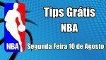 Prognósticos para Apostas NBA - Grátis - Segunda Feira 10 de Agosto
