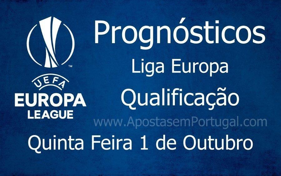 Prognósticos para os jogos da Liga Europa - Qualificação