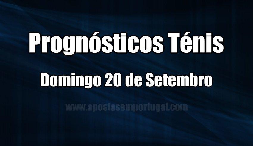 Prognósticos para apostar no Ténis - Domingo 20 de Setembro