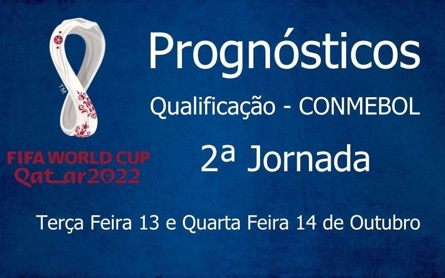 Prognósticos para Qualificação Campeonato do Mundo - CONMEBOL - 2ª Jornada