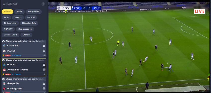 Porto Olympiakos online grátis - Vê o jogo em qualquer dispositivo móvel