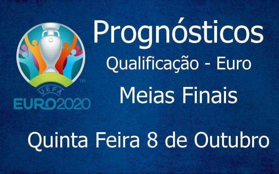 Prognósticos para os jogos de qualificação para o Campeonato da Europa - Meias Finais
