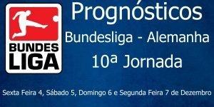 Prognósticos para a 10ª Jornada da Bundesliga - Alemanha