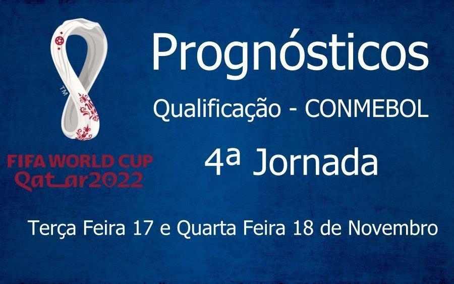 Prognósticos Qualificação Campeonato do Mundo - CONMEBOL - 4ª Jornada