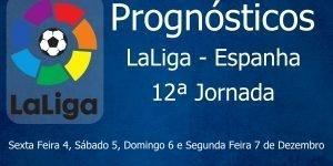 Prognósticos para a 12ª Jornada da LaLiga - Espanha