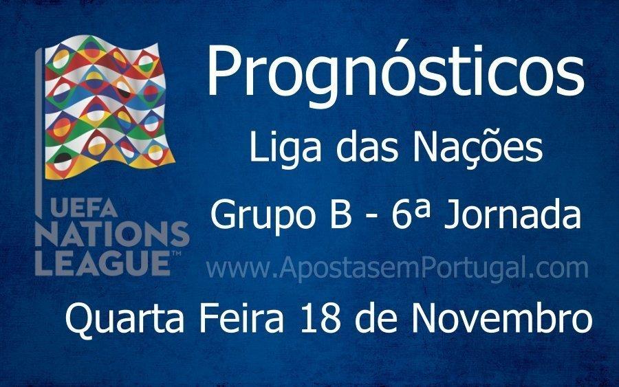 Prognósticos para a Liga das Nações - Grupo B - 6ª Jornada
