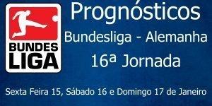 Prognósticos para a 16ª Jornada da Bundesliga - Alemanha