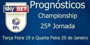 Prognósticos para a Championship - Inglaterra - 25ª Jornada