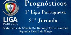 Prognósticos para a Primeira Liga Portuguesa - 21ª Jornada