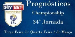 Prognósticos para a Championship - Inglaterra - 34ª Jornada