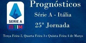 Prognósticos para a Série A - Itália - 25ª Jornada