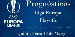 Prognósticos para a Liga Europa - Playoffs