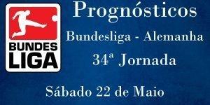 Prognósticos para a 34ª Jornada da Bundesliga - Alemanha