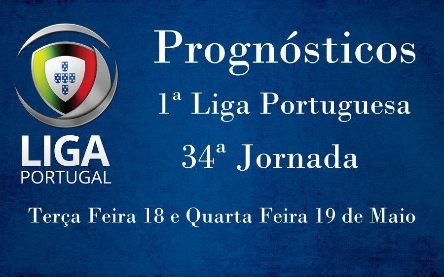 Prognósticos para a Primeira Liga Portuguesa - 34ª Jornada