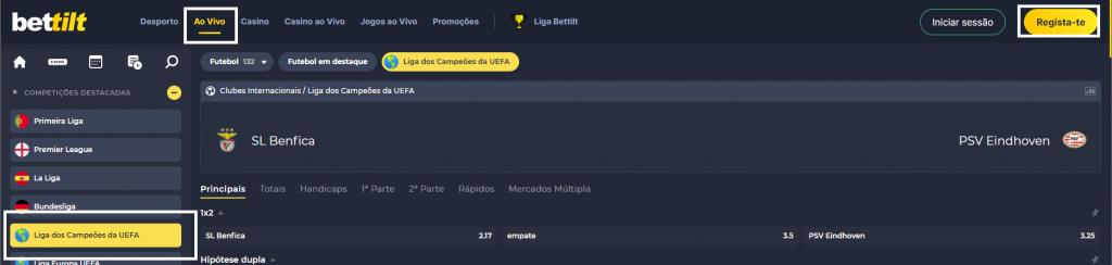 Benfica PSV Online grátis online grátis. Assiste qualquer dispositivo móvel
