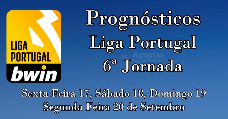 Prognósticos para a Liga Portuguesa - 6ª Jornada