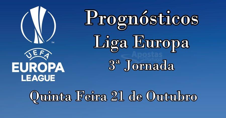Prognósticos para a Liga Europa  – 3ª Jornada Fase Grupos